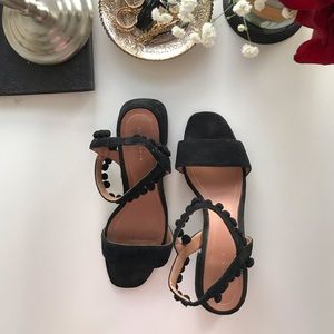 ZARA | black Sandals with straps